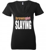 BrownGirlSlayBlackTee